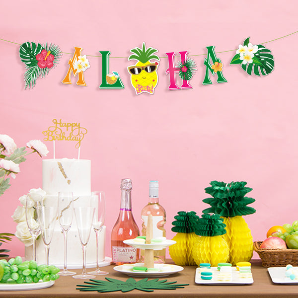 Hawaiian Aloha Party Banner