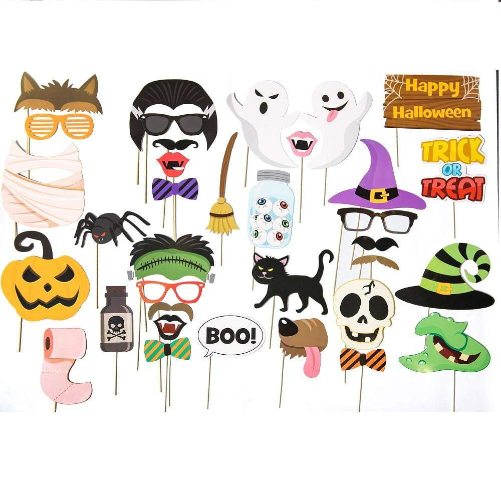 Halloween Photo Booth Props(35Pcs) - cnsunbeauty