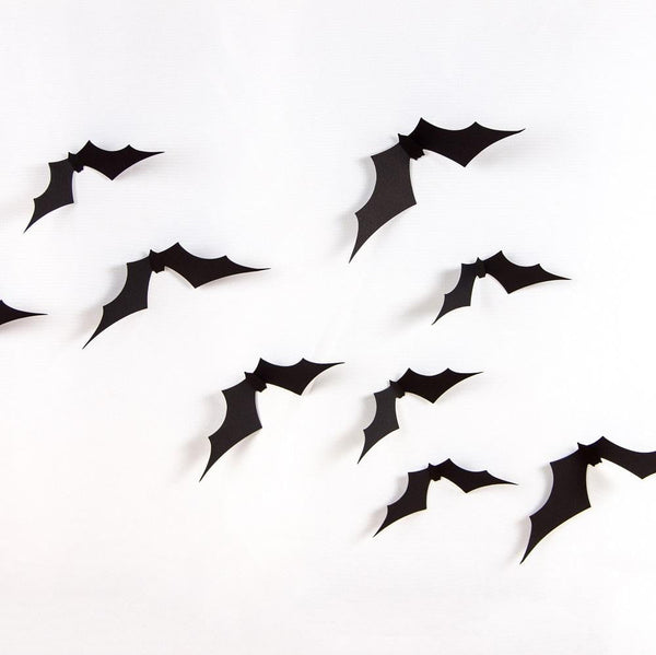 Halloween 3D Bat Wall Sticker(100Pcs) - Sunbeauty