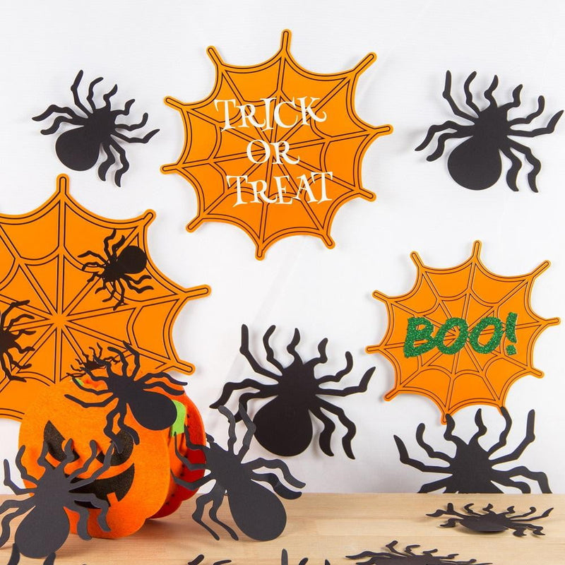 Halloween 3D Spider Wall Sticker(100Pcs) - Sunbeauty