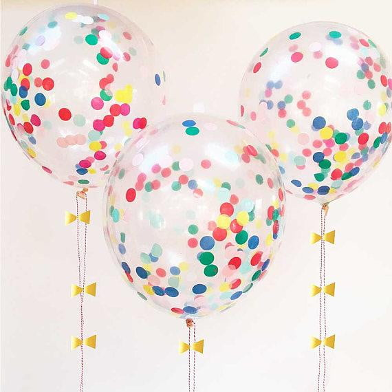 Wholesale Colors Confetti balloon - Sunbeauty