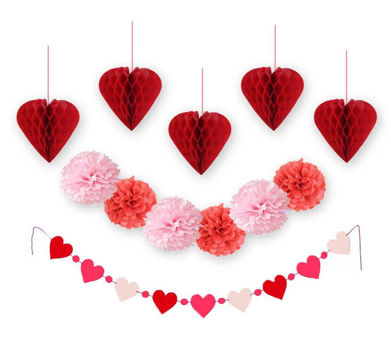 Pink Red Valentine's Day Decoration Set - Sunbeauty