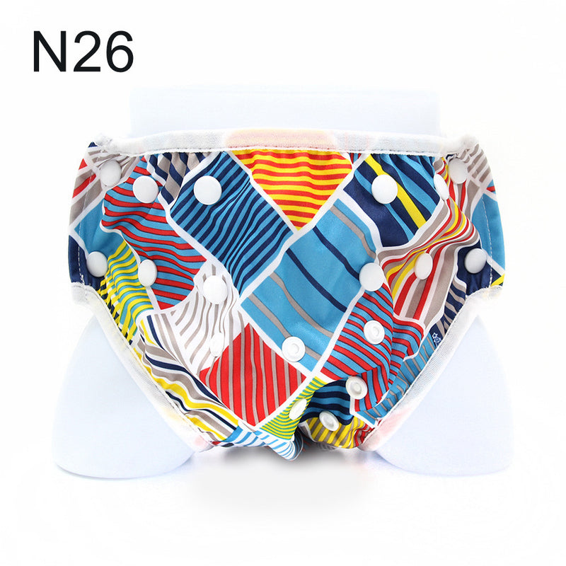 Adjustable & Stylish Reusable Baby Swim Diaper - Sunbeauty