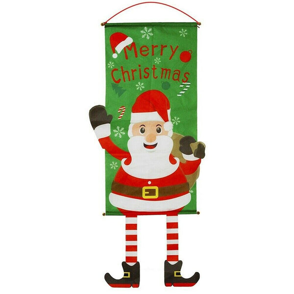 Christmas Outdoor Hanging Decorations Indoor Merry Bright Porch Sign Door Banner - Sunbeauty