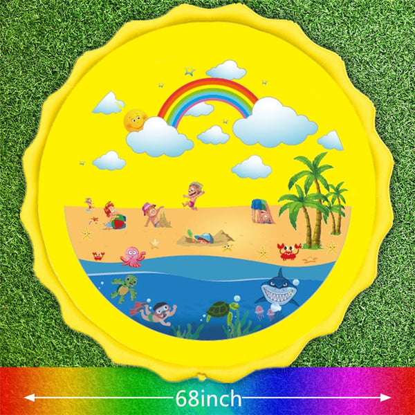 Inflatable Splash Pad Sprinkler for Kids-FreeShipping - Sunbeauty