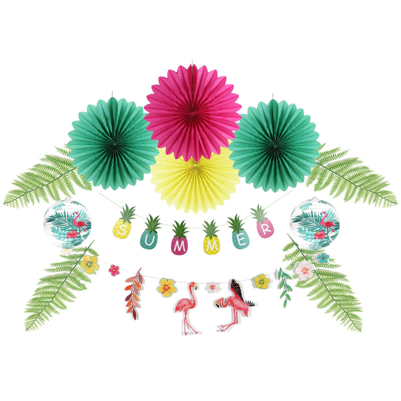Aloha Summer Birthday Party Pineapple Flamingo Decorations - Sunbeauty