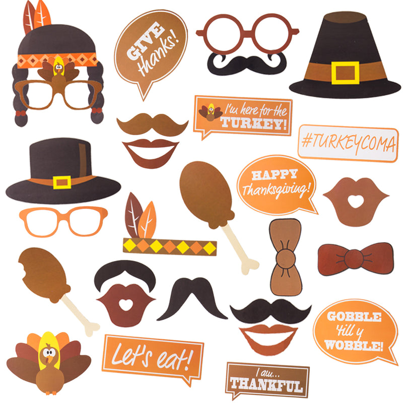 Thanksgiving Day Funny Turkey Photo Booth Props - Sunbeauty