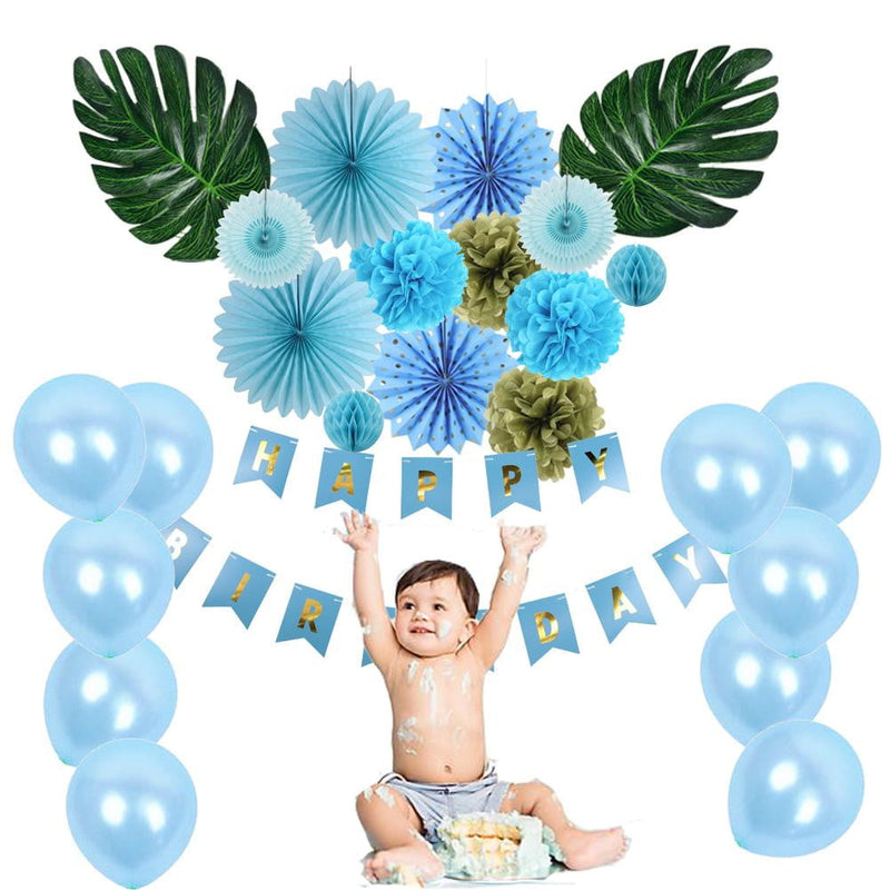 Summer Baby Shower Birthday Decorations With Balloons Pinwheels - Sunbeauty