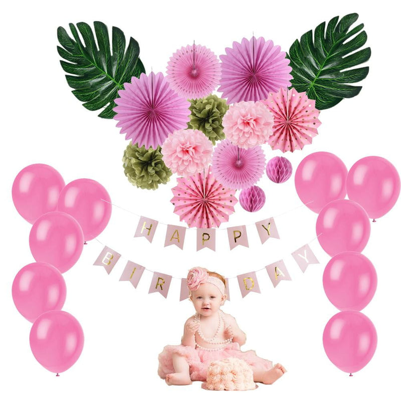 Summer Birthday Party Baby Shower Decoration Set