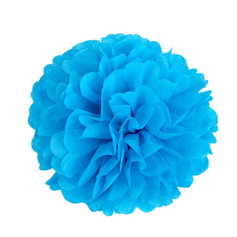 Royal Blue Tissue Paper Pompom - Sunbeauty