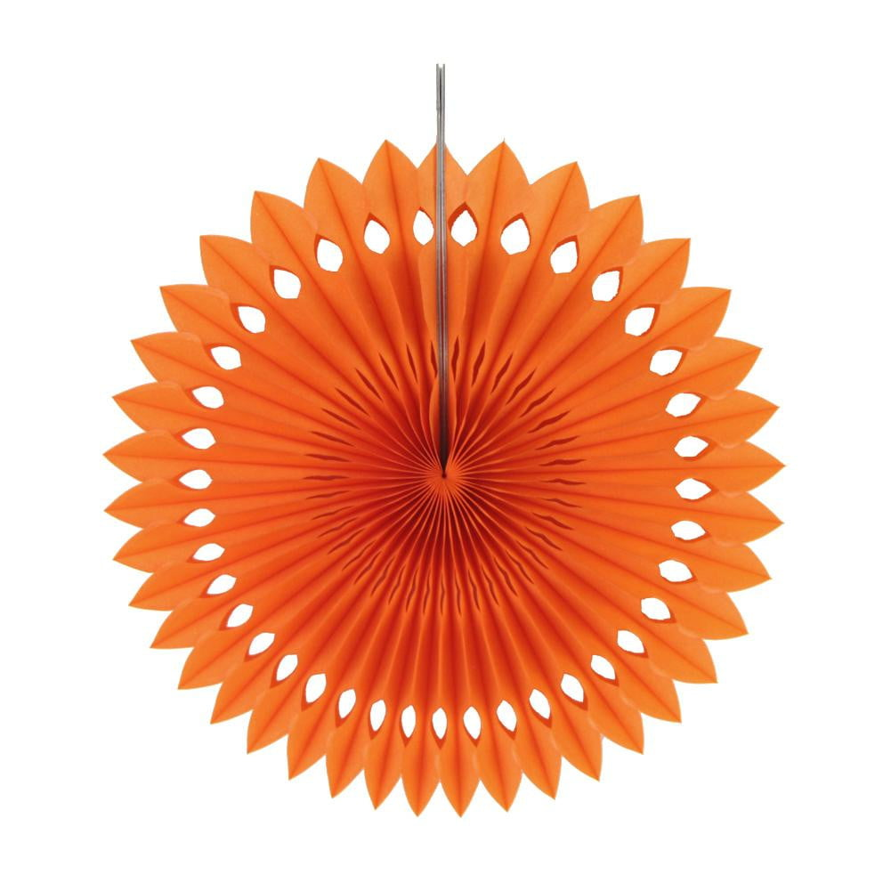 Orange Tissue Paper Fans/Pinwheel(Luo Fan) - Sunbeauty