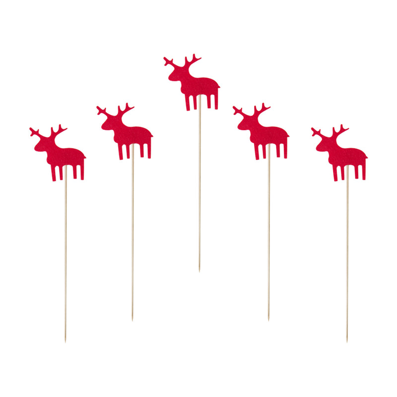 Reindeer Christmas Cake Toppers