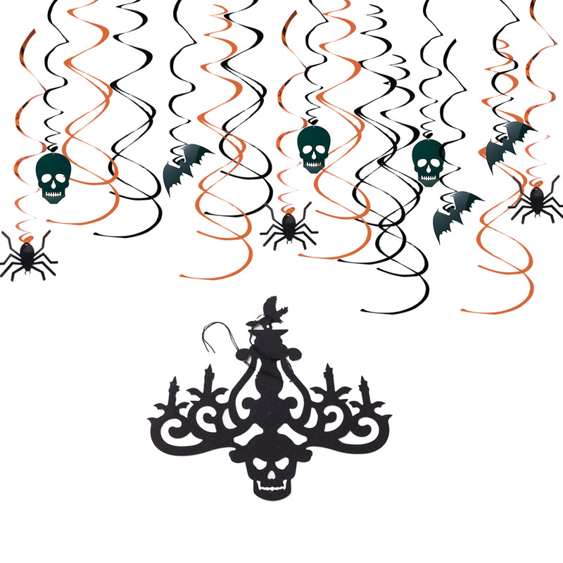 Halloween Indoor Hanging Swirls for Haunted House Ceiling Decor - Sunbeauty