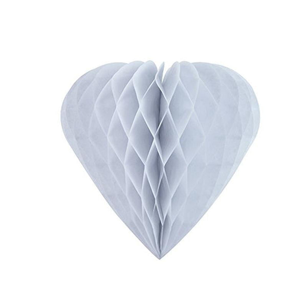 White Honeycomb Heart - cnsunbeauty