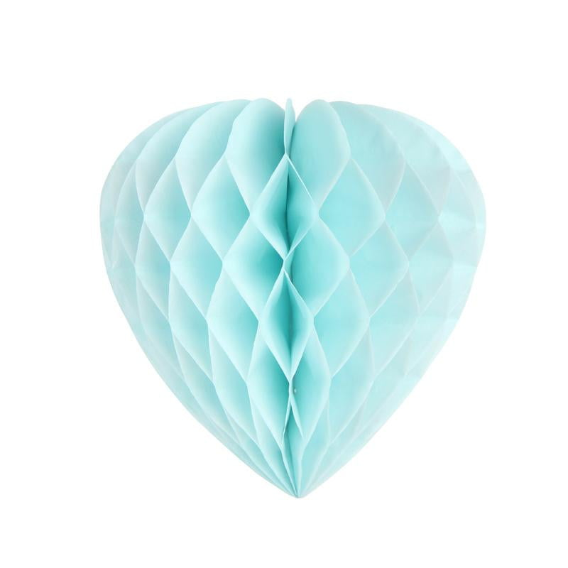 Light Blue Honeycomb Heart - Sunbeauty