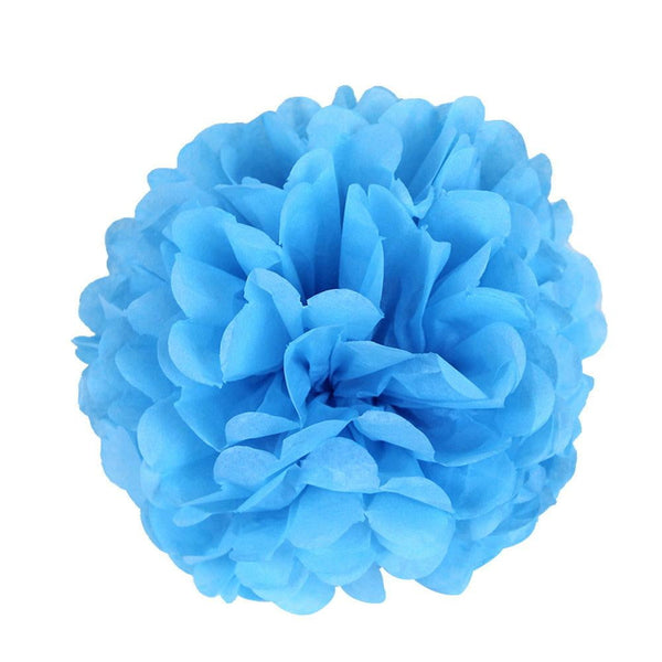 Light Blue Tissue Paper Pompom - Sunbeauty