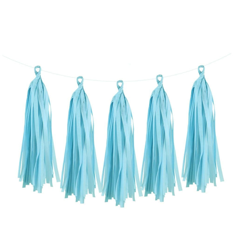 5Pcs Light Blue Tissue Paper Tassel - Sunbeauty
