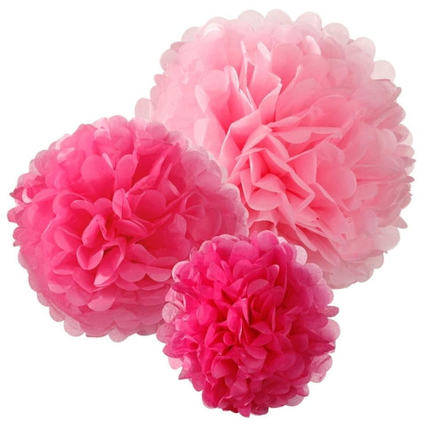 Rose Red Tissue Paper Pompom - cnsunbeauty