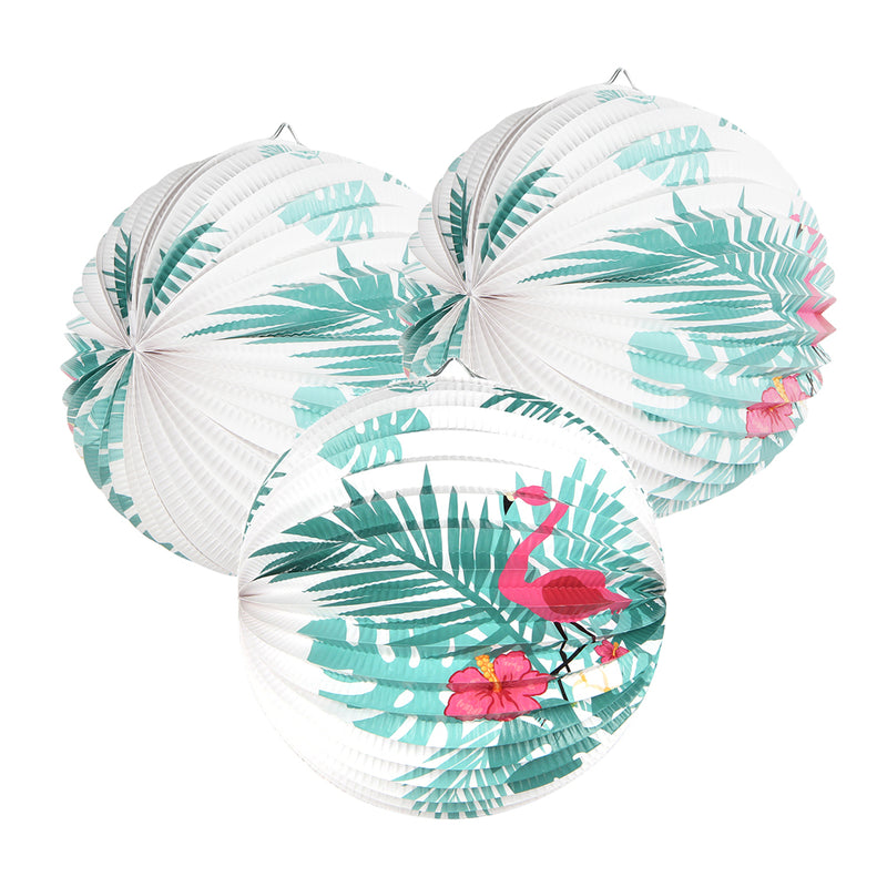 Summer Leaves Watermelon Paper Lanterns - Sunbeauty