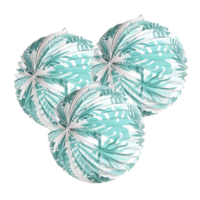 Aloha Party Leaves Watermelon Paper Lanterns - Sunbeauty