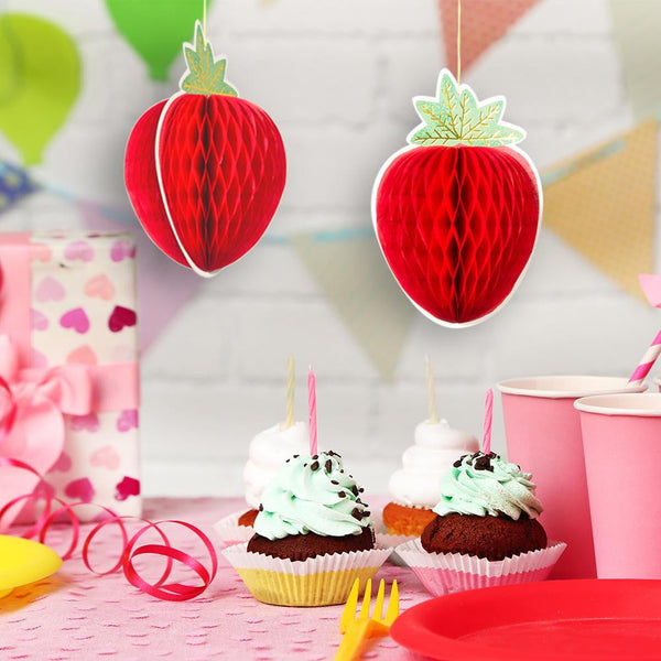 Strawberry Honeycomb Ball Decoration - Sunbeauty