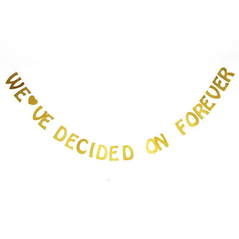 WE'VE DECIDED ON FOREVE Banner - Sunbeauty