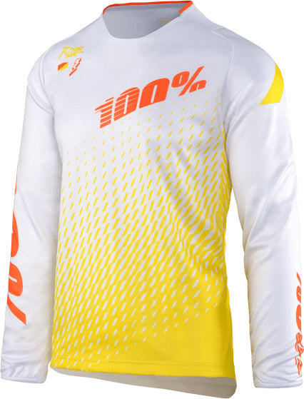 100% R-Core Downhill Jersey-Supra White  - J&R Bicycles BMX Super Store