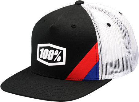 100% Snapback Trucker Hat-Cornerstone Black  - J&R Bicycles BMX Super Store
