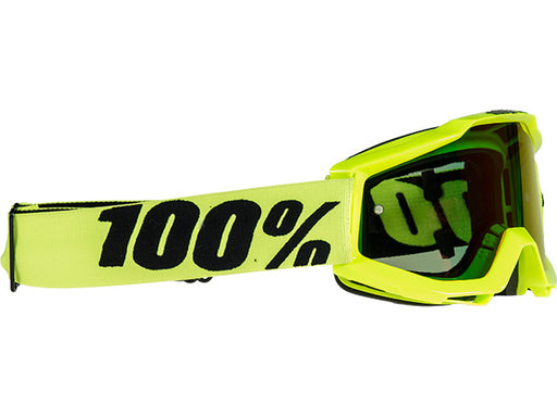 100% Accuri Goggles-Fluorescent Yellow  - J&R Bicycles BMX Super Store