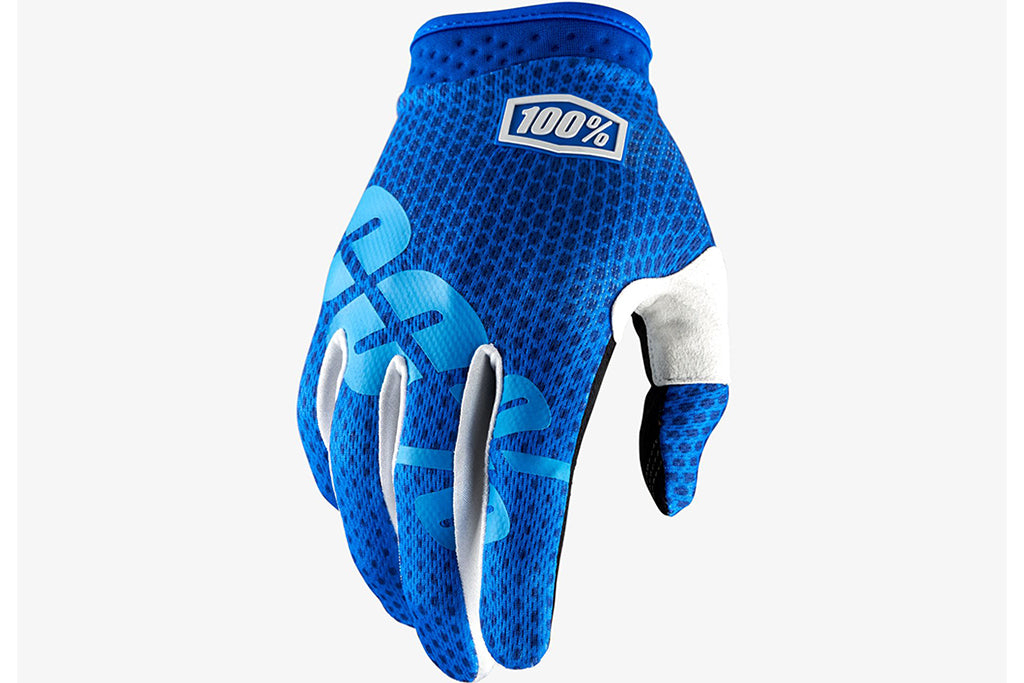 100% ITrack Glove-Blue  - J&R Bicycles BMX Super Store