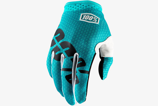 100% ITrack Glove-Teal  - J&R Bicycles BMX Super Store