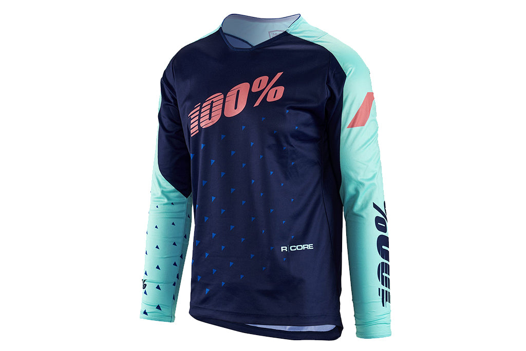100% R-Core DH Jersey-Navy  - J&R Bicycles BMX Super Store