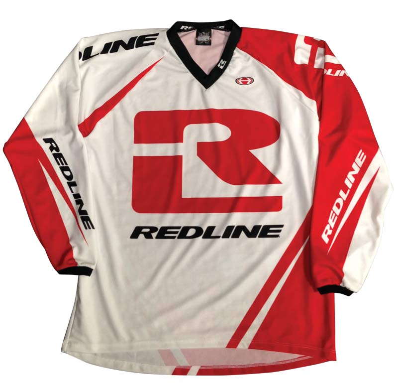 Redline Flight Longsleeve Jersey-Red/White
