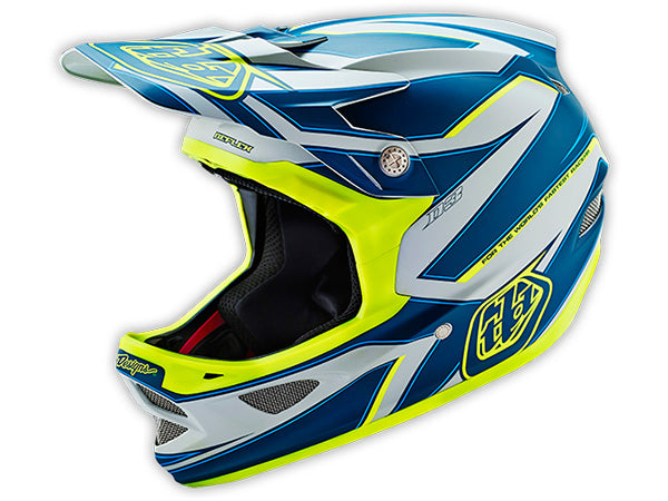Troy Lee D3 Composite Helmet-Reflex Gray/Yellow