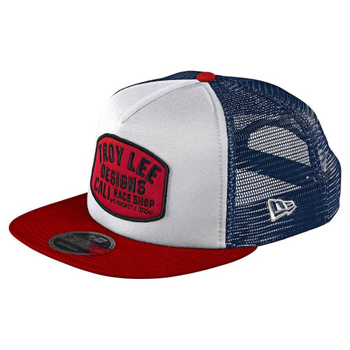 Troy Lee Designs Blockworks Snapback Hat-White/Blue