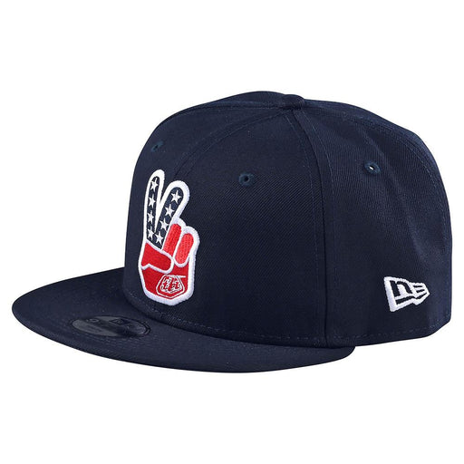 Troy Lee Designs Peace Sign Snapback Hat-Navy