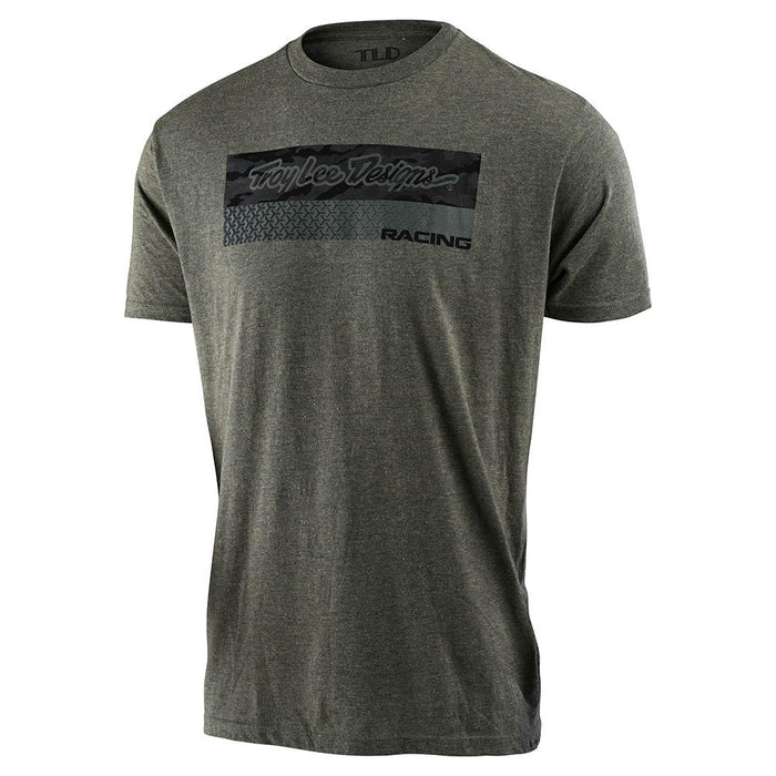Troy Lee Designs Racing Block Fade T-Shirt-Sage/Black/Heather