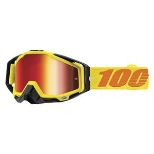 100% Racecraft Goggles-Attack Yellow  - J&R Bicycles BMX Super Store