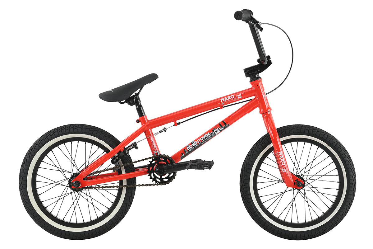 "Haro 2017 Downtown 16"" Bike-Gloss FST Red"