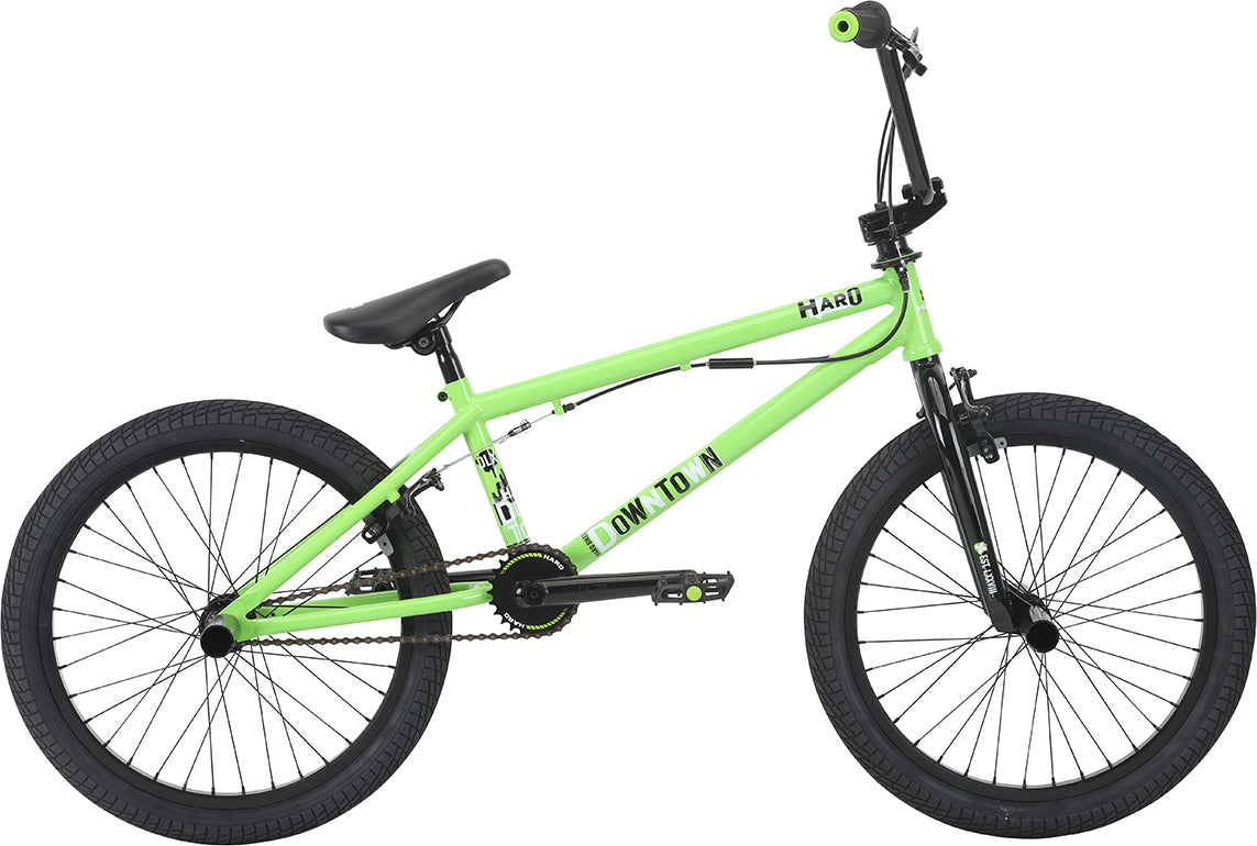 Haro 2018 Downtown DLX Bike - Gloss Lime