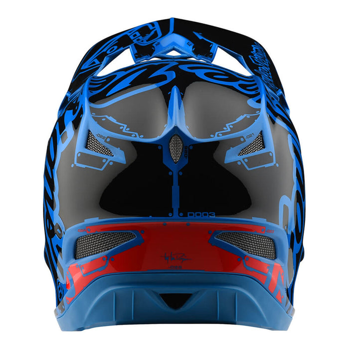 Troy Lee D3 Fiberlite Helmet-Factory-Blue