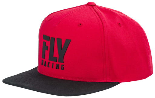 FLY RACING Logo Snapback Adjustable Hat-Red
