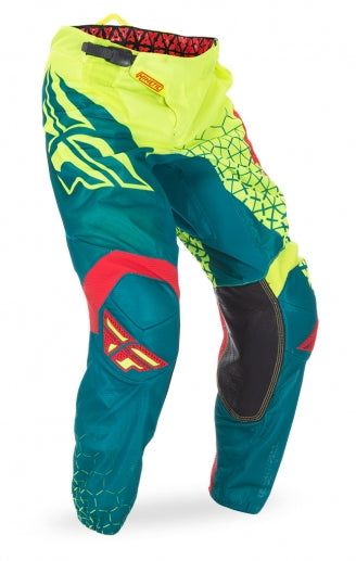 Fly Racing 2016 Kinetic Mesh Trifecta Pants-Hi-Vis/Teal