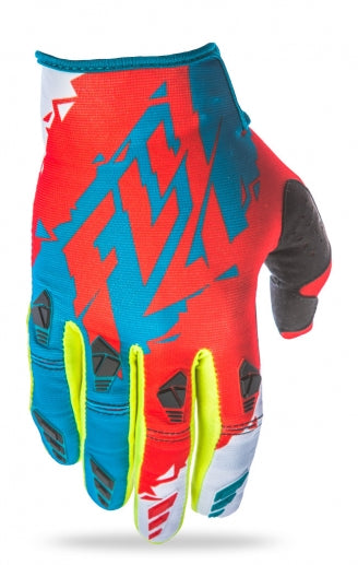 Fly Racing 2017 Kinetic Glove-Dark Teal/Red