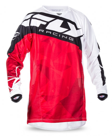 Fly Racing 2017 Kinetic Crux Jersey-Red/White