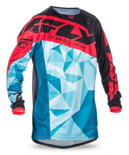 Fly Racing 2017 Kinetic Crux Jersey-Dark Teal/Red