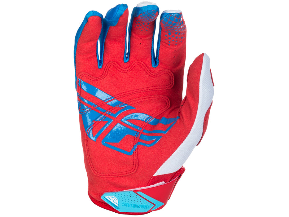Fly Racing 2018 Kinetic Glove - Red/White/Blue Palm