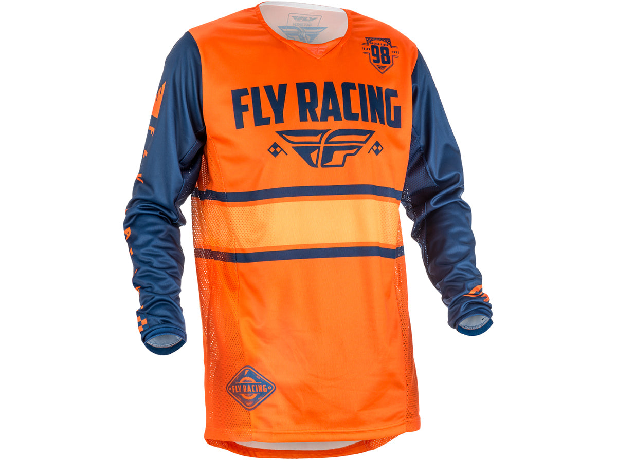 Fly Racing 2018 Kinetic Era Jersey - Orange/Navy