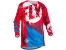 Fly Racing 2018 Kinetic Outlaw Jersey - Red/Blue
