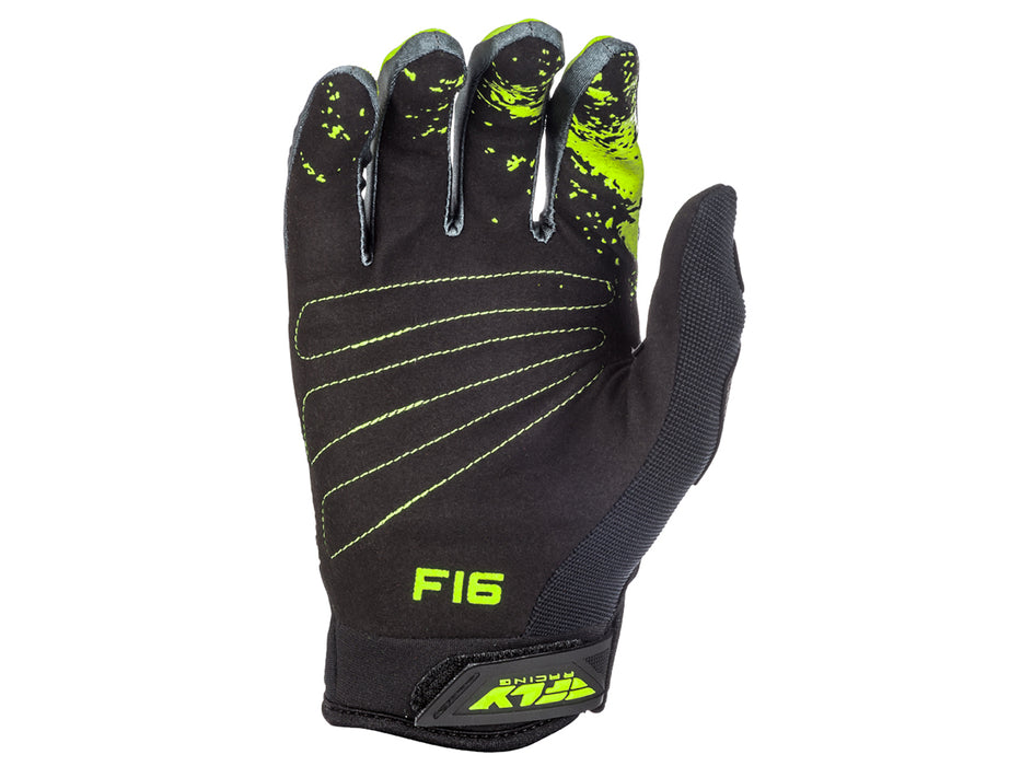 Fly Racing 2018 F-16 Glove - Black/Hi-vis Palm